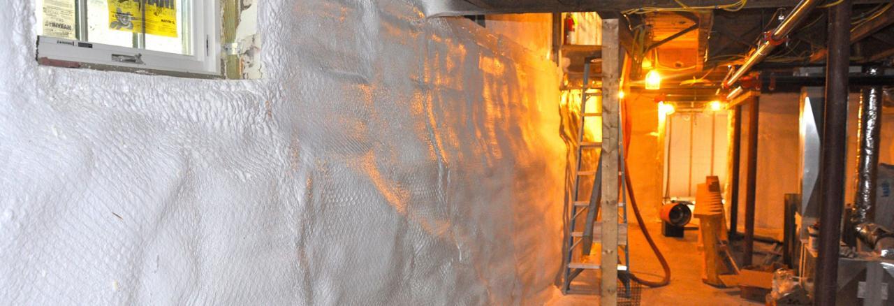 A+ Insulation Foam, Basement encapsulation, MA