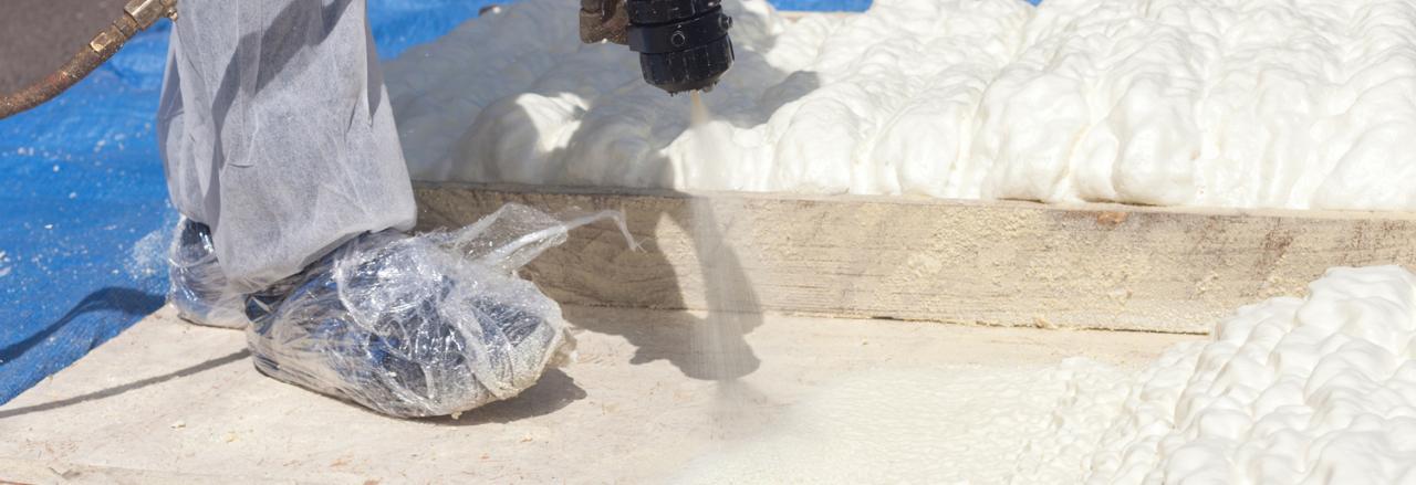 A+ Insulation Foam, Man applying spray foam insulation, MA